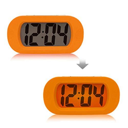 JIAOZIHAO Wecker Mute Clock Silikon Shock Fall Snooze Wecker Für Bequem Für Reisen Lauter Alarm...
