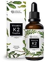 Vitamin K2 MK-7 Tropfen 50ml (1700 Tropfen, 200µg) - 99,7+% All-Trans - hochdosiert