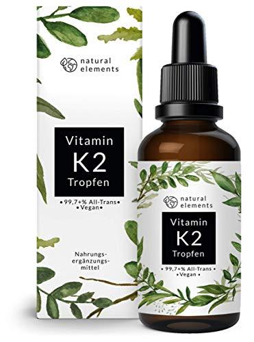 Vitamin K2 MK-7 200µg - 1700 Tropfen (50ml) - Höchster All-Trans Gehalt 99,7+{e9dc69bbc4f8820ad3f189199ea2c6539242a248cd4d4aef75bb9378052b5cd4} (K2VITAL® von Kappa) - Laborgeprüft, vegan, hochdosiert, hergestellt in Deutschland