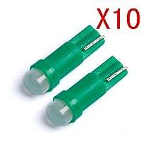Luckycat 10PC T5 COB Led Blanco LED lámparas Bombillas de Lectura de luz de Puerta de