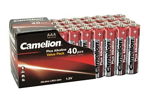 Camelion 11104003 Plus Alkaline Batterie LR03 (Micro, AAA, 40er-Pack) rot/gold Aaa-alkaline-family Pack