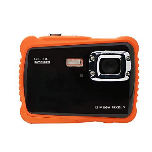 TOPmountain 2,0 Zoll 1080P Hd Digitalkamera wasserdichte Kamera, 12Mp Video Camcorder Digitalkamera Für Kinder - Orange 12 Mp Digitaler Video -