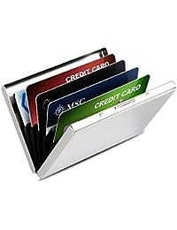 Porte-Carte Crédit/visite / Porte monnaie/ Etui credit/Housse Etui Rigide en acier inoxydable - RFID lutte contre Criminel de Scanning - 6 Slots