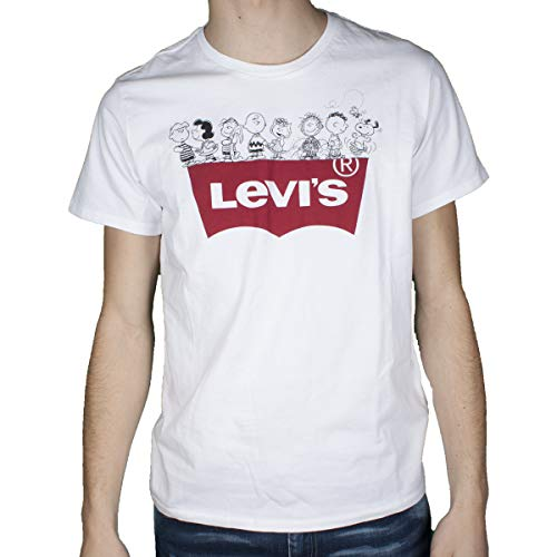 Levi's® Herren T-Shirts Graphic Set In Neck Peanuts Gang weiß XL