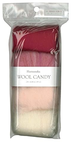 Hamanaka wool Candy 4 color set (Orchid Pink) # 2 (japan import)