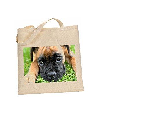 Boxer # Hunde Tasche 100% Baumwolle (FC) # 43 (Braut-boxer)