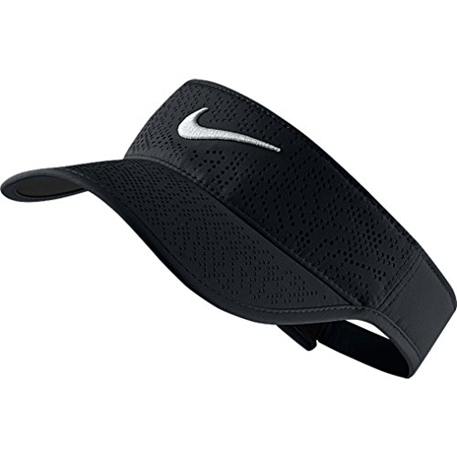 NIKE donna Visor Tech 2021, black/white, taglia unica, 742709-010 - White Golf Cap