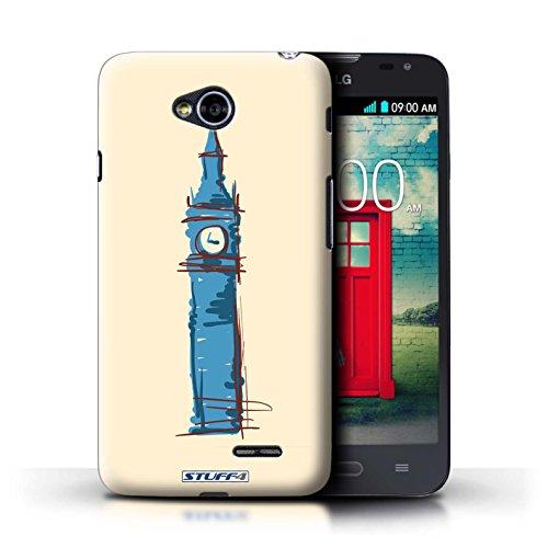 Kobalt® Imprimé Etui / Coque pour LG L70/D320 / Colisée / Rome conception / Série Monuments Big Ben / Londre
