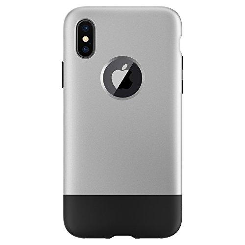 Spigen iPhone X Hülle, [Classic One] Limited Edition mit klassischem Design iPhone erste Generation Style Schutzhülle für iPhone X Case Cover Aluminum Gray (057CS23345)