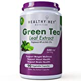HealthyHey Nutrition Premium Green Tea Extract Supplement - 500 mg - 90 Vegetable