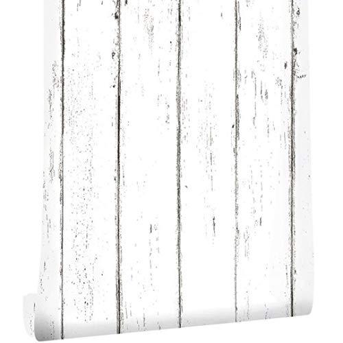 Circlefly Hölzerne Kornwand-Wandaufkleber der nordischen weißen Ahornvertikalen Streifen wasserdichtes selbstklebendes Zahnfleischbekleidungsgeschäftkaffeeshophintergrundhintergrundpapie