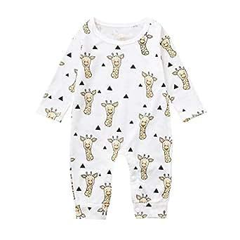 XXYsm Baby Strampler Jungen M/ädchen Overall Pyjama Langarm Alpaka drucken Jumpsuit Outfit Spielanzug