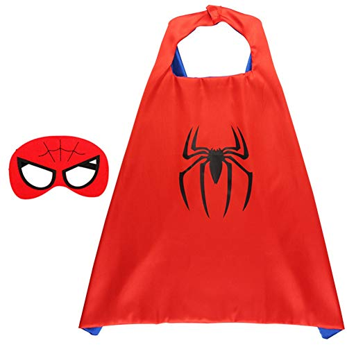 RosewineC Superhero Capes Dress Up Costumes for Kids Boys Girls Party Favors Cartoon Capes for Kids(one size 7 with mask) (Girl Halloween-kostüm Glow)