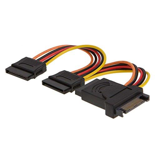SATA 15pol Power Kabel, cablecreation 6SATA 15-Pin Stecker auf 3x 15-pin Buchse Power Y Splitter Kabel Adapter Verlängerungskabel -