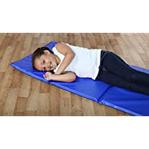 1x Extra Thick Triple Folding Nursery Sleep Mat in Blue for Children & Toddlers
