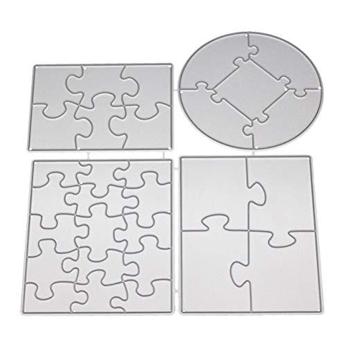 SUPVOX Puzzle Schablonen Stanzmaschine Stanzformen Metall Stanzschablone Prägeschablonen Album Scrapbooking DIY
