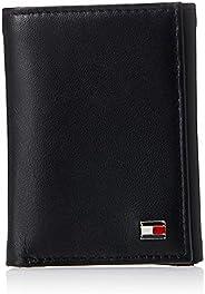 Tommy Hilfiger Men's Genuine Leather Oxford Slim Trifold Wa