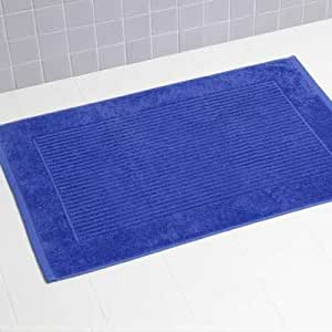 Linens Limited 100% Turkish Cotton Bath Mat, Royal Blue