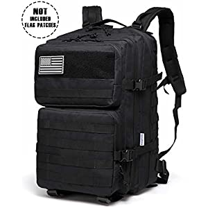Songwin Multifunction Military Tactical Backpack,Large Army Assault Pack Molle Bug Out Bag Backpacks Rucksack Daypack for Camping Hiking and Trekking 43L.