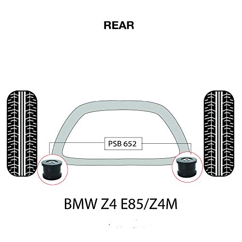 PSB PSB652 Kit de baguettes arrière en polyuréthane Z4 E85/Z4M E86 (2003-2009)