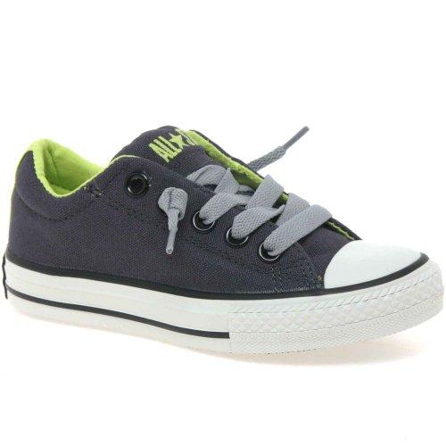 Converse  637267c, Mädchen Sneaker Grau Grey/Green Grau/Grün