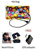 HETASH Electric Hot Bag/Heating Pad with Neck Pillow, Ear Plug (Assorted Colour)