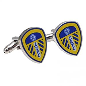 Leeds United F.C. Cufflinks- colour crest cufflinks- approx 18mm x 15mm- in a gift box- Official Football Merchandise