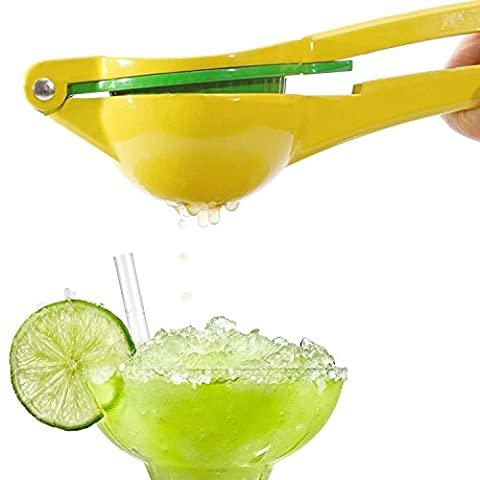 Wady Manual Citrus Press Juicer Top Rated Premium Quality Metal Lemon Lime Squeezer - (Yellow)