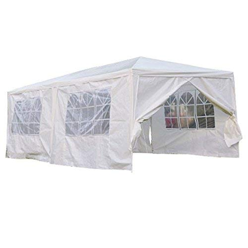 Qisan Überdachung Zelt Carport Gazebos Party Zelt 10 X 20-FUß Domain Carport Mit Seitenwänden, (Weiß)