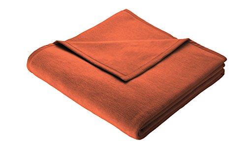 Biederlack Wohn- und Kuscheldecke, 100% Baumwolle, Samtband-Einfassung, 150 x 200 cm, Terra, Cotton...