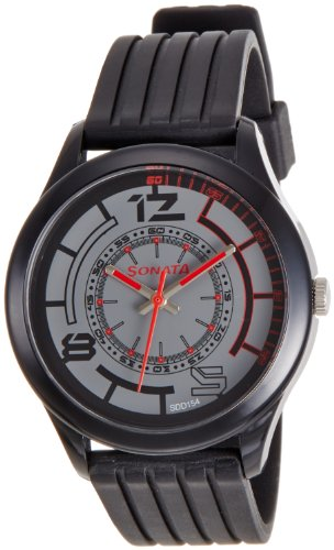 Sonata  Analog Black Dial Men's Watch -  77007PP02J image