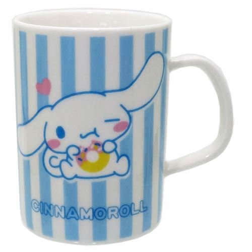 Cinnamoroll Cinnamoroll Donut Mug en porcelaine/Mug Porcelaine/Donut [Rayures bleues]