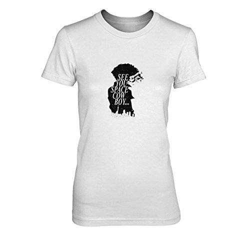 Space Cowboy - Damen T-Shirt, Größe: XL, Farbe: weiß