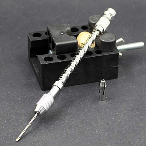 Diu # 0.2-2Mm Mini Micro Spiral Manuelle Schubbohrfutter Twist Pin Vise Bit Schmuck Werkzeug Für Holz Kunststoff Gummi -