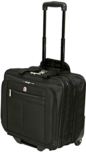 Executive Laptop Roller Bag Wheeled Pilot Case Briefcase Overnight & 15
