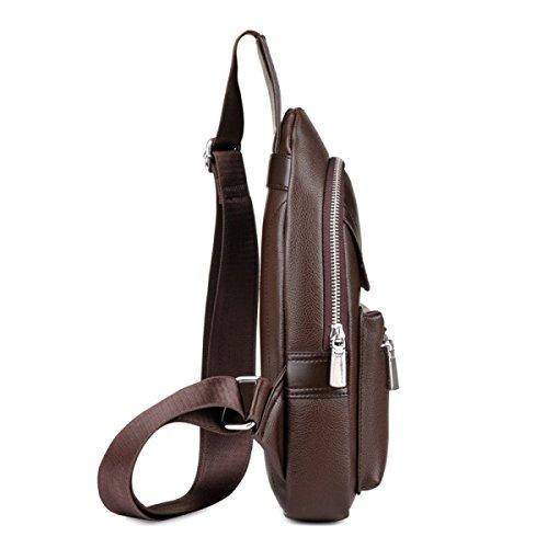 Männer Brusttasche Freizeittasche Reißverschluss Dunklen Taschen Outdoor Mode Sport Messenger Bag Black