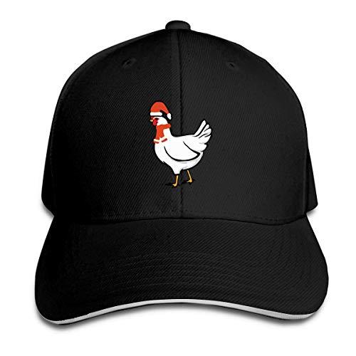 dfjdfjjgfhd Classic Unisex Chicken with Santa Hat Trucker Cap Baseball Kappe