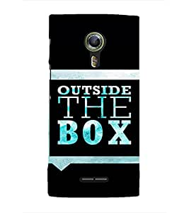 EPICCASE Think out of the box Mobile Back Case Cover For Alcatel One Touch Flash 2 (Designer Case)