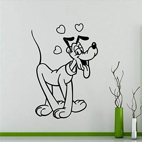Waofe Pluto Wandtattoo Mickey Mouse Cartoon Wohnkultur Raum Kunst Dekoration Kinder Mädchen Jungen Zimmer Wandaufkleber 40 * 58 Cm (Pluto-tv)
