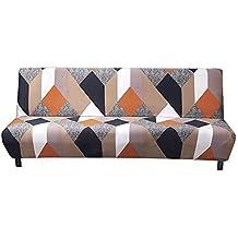 Knowled Funda de sofá sin Brazos elástica, Protector de slipcover unda elástica Plegable, Ideal