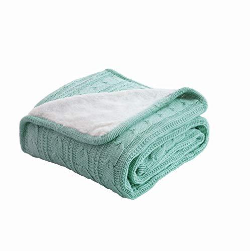 Ancoree europeo retrò fleece casual coperta lavorata a maglia divano copertina coperta per l'autunno/inverno super morbido peluche throw blanket per poltrona divano letto quilt caldo,120x180cm