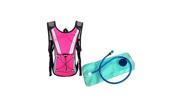 Sac /à Dos l/éger Sac dhydratation avec leau 2L Eau Vessie Parfait pour Plein Air Cyclisme Randonn/ée Escalade Pouch Rose 1pc