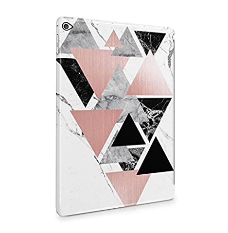 Black Onyx & Granite Stone On White Marble Hard Thin Plastic Phone Case Cover For iPad Air 2