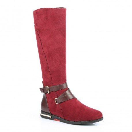 ideal-shoes-stivali-bi-materiale-con-cinturone-e-piano-cottura-metalisee-laurette-rosso-rosso-37