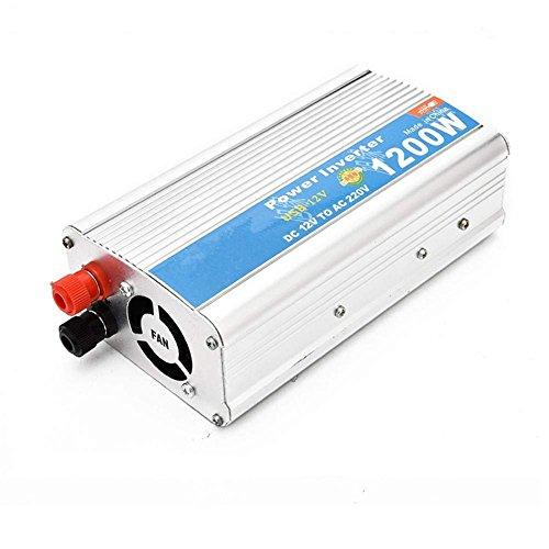 DWAN Portable Car Converter Auto-Wechselrichter 1200W mit USB-on-Board-Inverter 12V 24V zu 220V Konverter Tablets und Handys, 12V bis 110V/1200W für Kühlschrank Handy Laptop Aufladen