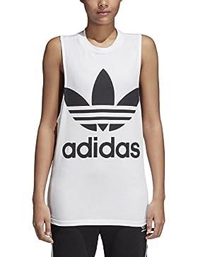 adidas Trefoil Tank, Camiseta Deportiva de Tirantes Para Mujer