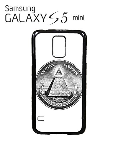 Illuminati Pyramid Eye Masonic Masons Symbols Dollars Mobile Phone Case Samsung Galaxy S5 Black Blanc