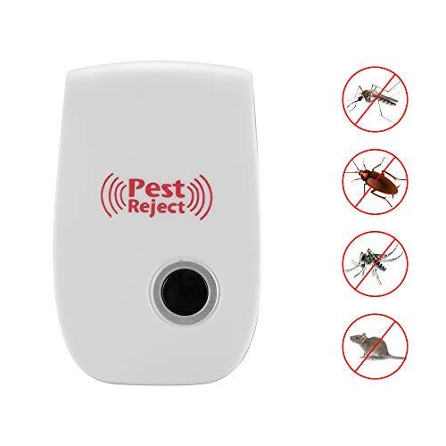 ZUZEN Elektronische Ultraschall-Rattenmaus-Abwehrmittel Indoor-Anti-Moskito-Insekten-Schädlingsbekämpfer-Abweiser-Nagetier-Kontrolle lang,UK