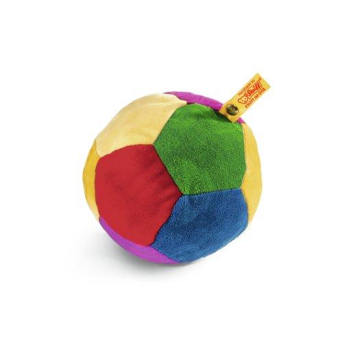 Steiff 239984 - Rassel-Ball 12 Plüsch, bunt
