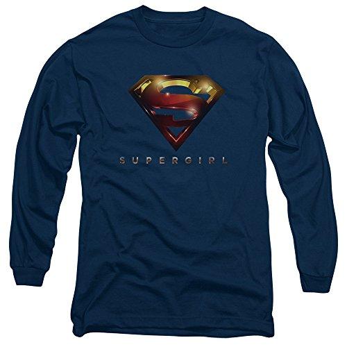 Supergirl Herren Langarmshirt Navy